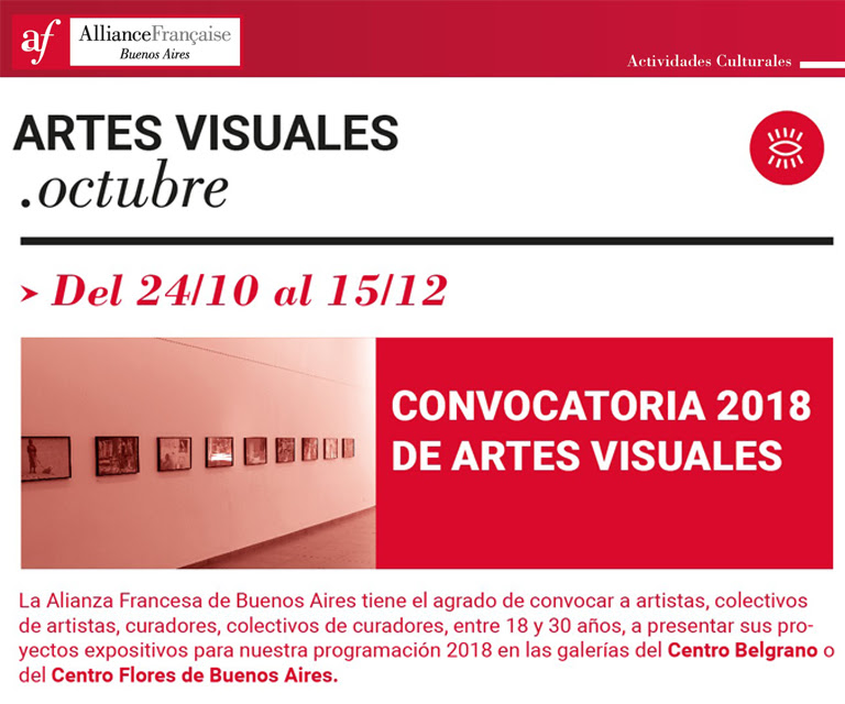 Convocatoria 2018 - Artes Visuales